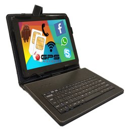 Wholesale Keyboard Pad Phone - Wholesale- FreeShip BoDa 9.6 inch Phone Pad Dual Sim card Tablet PC 16gb 3g Quad Core IPS HD GPS Android 5.1 Free Gift Keyboard cover