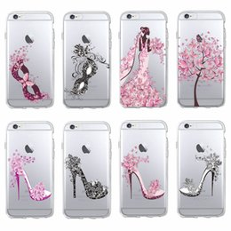 Wholesale Classy Girls - Fashion Classy High Heels Party Dance Mask Lovely Girl Soft Clear Phone Case Fundas Coque For iPhone 7 7Plus 6 6S 6Plus SAMSUNG