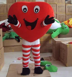 Wholesale Spandex Valentine - 2017 hot new valentines day outfits heart costume mascot cartoon character mascots for sale