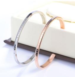 braccialetti d'argento puro all'ingrosso Sconti Nuovi bracciali Bracciale in oro rosa Bracciale in argento Bracciale in acciaio 100% Bracciale donna e uomo pulsera