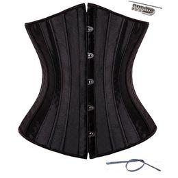 Wholesale Underbust Brown - wholesale 28 Spiral Steel Boned Waist Plus Size Underbust Corset Shaperwear Top Body Shaper
