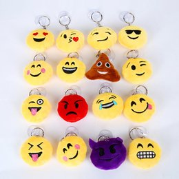 Wholesale Kids Classic Toy Cars - Emoji toys for Kids Emoji Keychains Mixed Emoji Keyrings Bag pendant 6 cm Christmas gift Free shipping