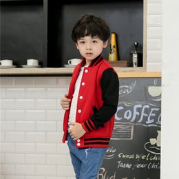 Wholesale Clothes Children Years - Wholesale- Child Baseball Jacket Boys Girls Casual Hoody Kids Outcoat 2017 Spring Autumn Kids Clothes 6 8 10 12 Years Old AKH165003