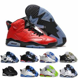 Wholesale J6 Retro - [With Box] Cheap online hot Sale New Best Mens basketball shoes Air Retro 6 XI 6 J6 J 6s Carmine Sneakers Sport Shoe for men US size 8-13