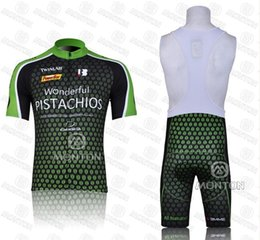 Wholesale 2011 PISTACHIOS Cycling Jersey Short Sleeve Shorts Kits Clothing Cycle Bicycle Team Ropa Ciclismo bicicletas maillot ciclismo Sportswear