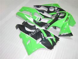 Wholesale 1994 Kawasaki Zx6r Fairing Kits - Bodywork fairing kit for Kawasaki Ninja ZX6R 1994-1997 green black fairings set ZX6R 94 95 96 97 OT12