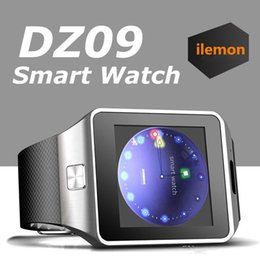 Wholesale Watch Mobile Phone Free Shipping - DZ09 Smart Watch GT08 U8 A1 Wrisbrand Android Smart SIM Intelligent mobile phone watch can record the sleep state Smart watch free shipping