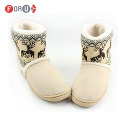 Wholesale wholesale men boots - Wholesale-Men Women Snow boots Autumn Winter Warm Cotton-padded Lovers At Home Indoor Shoes plush cheap snow boots ST18
