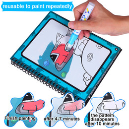 Wholesale Picture Album Books - Reusable Magic Painting Picture Book Album Gift With Water Pen For Children Educational Creative Toy free shipping