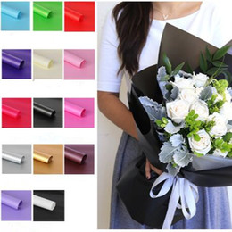 Wholesale Wood Craft Supply Wholesalers - Solid Color Flower Packing Paper Kraft Papers For Gift Bouquet Wrapper Of Florist Supplies Packaging Paper Flowers Wrapping CCA6748 60lot