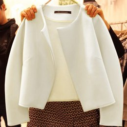 Wholesale Korean Winter Fashion Women Xl - 2016 autumn and winter students to install bottoming shirt new women's short jacket Korean fashion small wind incense jacket small shawl
