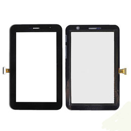 Wholesale Galaxy Tab Plus - for new Samsung Galaxy Tab 7.0 Plus GT-P6200 P6210 Digitizer Touch Screen Glass + Preattached Sticker black
