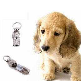 Wholesale Dog Id Tube - Free Shipping !!! Anti-Lost Dog Pet ID Tags Address Label Barrel Tube Your Best Choice Good Helper