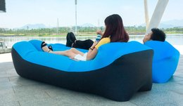 Wholesale Backpacking Pillow - Outdoor Inflatable pillow Air Sleeping Bag Portable Sofa Hangout Lounger Air Boat Air Lazy Sofa Inflate Camping Beach Sleeping Bed Hammock