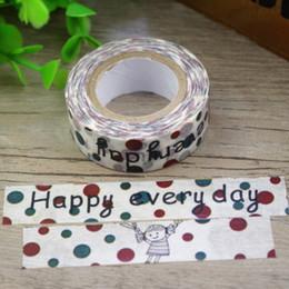 Wholesale Girl Scrapbooks - Wholesale- 2016 New 1x Happy Everyday Kawai Little Girl Polka Dots Washi Tape Hobonichi School Tools Scrapbook Decorative Masking Tape 10M