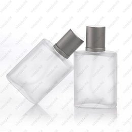 Wholesale Glass Atomizer Bottles Frosted - 35ML Portable Refillable Perfume Atomizer Spray Frosted Bottle Empty Bottles DHL Free shipping