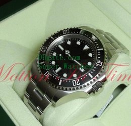 Wholesale Sea Dweller 44mm - Super Original Box Papers Sapphire Wristwatches 116660 Sea-Dweller Cerachrom Black Dial 44mm Steel Automatic 2813 Movement Watch Watches