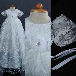 Wholesale Xl Water Beads - Real Image Pure White Cute First Communion Dresses Lace Applique Jewel Neckline Organza Hand Made Flower A Line Pageant Gowns