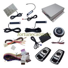 Wholesale Trunk Release Car Alarm System - Quality Car PKE Alarm System Passive Keyless Entry with Shock Sensor Push Start Remote Start Smart Password Keyboard Remote Trunk Release
