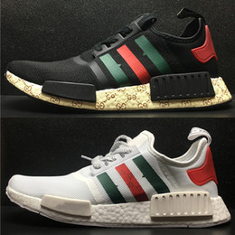 Wholesale Outdoor 11 - 2017 NMD runner R1 PK Primeknit men women sports shoes Sneaker green red white nmd ultra boost Running Shoes Training Shoes us5.5-11