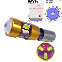 Wholesale Blue Signal Lights - BA9S BAX9S BAY9S 3014 27 SMD White Canbus Lamps Error Free t4w h6w LED Bulbs Interior Turn Signal Car Light Source 6000K