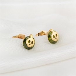 Wholesale Gold Skull Studs - Super Cute!!! New Special Retro Personality Lovery Small Earrings Cute Skull Stud Earrings Pierced for Sexy Girls