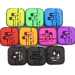 Wholesale Microphone Noise - Colorful 3.5mm Metal For Xiaomi piston Headphone Universal Earphone Noise Cancelling In-Ear Headset For iPhone Samsung Smart android phone