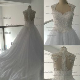 Wholesale Sweetheart Neckline Vintage - 2017 Ball Gown Plus Size Wedding Dresses Real Image Sexy Curved Sweetheart Neckline with Beaded Bodice V Waist Chapel Train Bridal Gowns