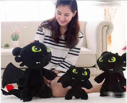 Wholesale Toothless Stuff Toy - 30cm Night Fury Plush Toy How To Train Your Dragon 2 Toothless Dragon Stuffed Animal Dolls EMS shipping E1742