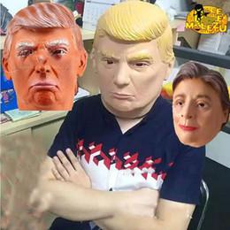 Wholesale Presidents Masks - USA President Candidate Mr Trump Masks Halloween Mask Latex Face Mask Billionaire Presidential Donald Trump Latex Masks