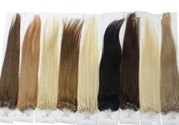 Wholesale Micro Ring Extensions 1g - 2017 Micro loop human hair extensions straight cabelo human 1g s human hair micro rings extension 100g