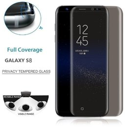 Wholesale 3d Spy - Privacy Anti Spy Tempered Glass for Samsung Galaxy S8 S8+ S8 Plus Screen Protector 3D Curved Edge Full Coverage Film Guard for S7 edge