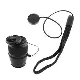 Wholesale Universal Lens Cap Holder - Wholesale 5PCS LOT Universal DSLR Lens Cover Cap Holder Keeper Strap Cord String Leash Rope for Canon Nikon Sony Camera Accessories 23cm
