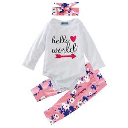 arrow camicie Sconti Ragazzi Ragazze Set di abbigliamento Freccia rossa Stampa Inverno Autunno Primavera Abiti casual Camicie Pantaloni Cappello Infantile Abbigliamento Bambini Top Shorts 0-24M