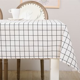 Wholesale Side Table Cover - Cotton Linen Table Cloths 140*220cm Printed Side Table Cloth Covers Dining Room Textile Decoration Home Decoration