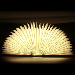Wholesale Fold Up Desks - USB Rechargeable Wooden Folding LED Night Light Book Light - 2500mAh Lithium Batteries Desk Lamp, Up To 8 Hours Usage Magnetic Table Lamp