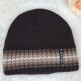 Wholesale Gentle Gift - Mens Knitted Hats Inside With Velvet More Soft And Comfortable Gentle Mans Caps Winter Warm Hat Gift Boys Skull Cap H20