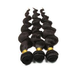 Wholesale Brazilian Hair Weft Grade 5a - Queen Loose Wave 3 Bundles Grade 5A Brazilian Virgin Human Hair Extension 100% Unprocessed Wavy Hair Weave Machine Weft Hand Selected