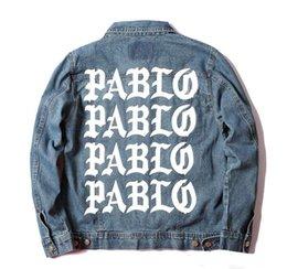 Wholesale Life Like - 2016 fashion Kanye West Pablo Denim Jackets Men The Life Of Pablo kanye Brand Clothing Streetwear Jeans Jackets I Feel Like Kany