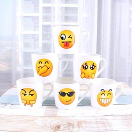 Wholesale China Fashion Product - New product High quality emoji expression Bone China Cup Personality mug fashion Office Cup Students water glass IA731