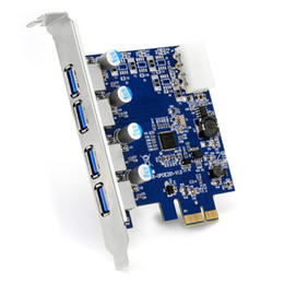 Wholesale Usb Card Pci X - Wholesale- 4 Port USB 3.0 PCI Express Card PCIe USB 3.0 Host Controller 4 x USB3.0 with VLI Controler NED720201 5GBPS
