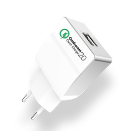 Wholesale Qualcomm Phones - Qualcomm Certified WEWO Quick Charge 2.0 Wall Charger USB Power Adapter Cell Phone Fast Charging For iPhone X iPad Samsung Xiaomi