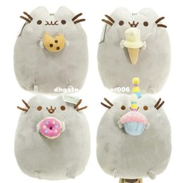 Wholesale Cake Plush - 4 styles 15cm Lovely Pusheen Cat Cookie & Icecream & Doughnut & Cake Stuffed Plush Animals doll Toys for kids christmas gifts
