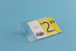 Wholesale Acrylic Price Stand - 4*6CM 50 pcs L label holder acrylic label price display frame stand label frame