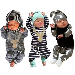 Wholesale Tutu Pants Zebra - Baby Kids Clothing Set Newborn Boys Girls Cartoon Outfits Clothes Outerwear Spring Autumn t-shirts Long Sleeve and Pants Infant New Fashion