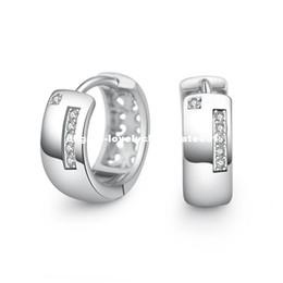 Wholesale Ear Accessories Piercings - PATICO Elegant Simple Fashion Brincos Ear Jewelry Cubic Zirconia Crystal Circle Hoop Earrings for Women Best Piercing Accessory