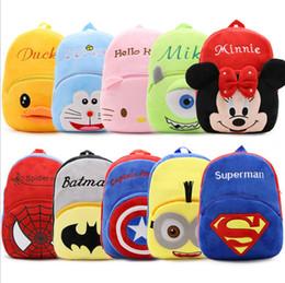 Wholesale Stuffed Animal Backpacks Children - 2017 Cartoon Design Big Size Crystal Plush Children School Bag Kids Stuffed Backpacks, DHL free shipping