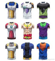 Wholesale Dragon Ball Cell - Dragon Ball Z Vegeta Resurrection F Armour T Shirts Women Men Anime Super Saiyan Goku Majin Buu Piccolo Cell DBZ T shirt 3D Tees