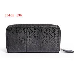 Wholesale Leather Wallet Female - fashion women wallet PU leather female long zipper purse European style new arrival girl wallets color136