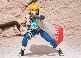 Wholesale Naruto Minato - New hot sale anime figure toy SHFiguarts NARUTO Namikaze Minato 14CM gift for children